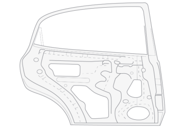 Illustration of metal car door