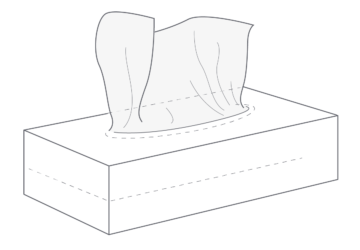 Illustration of tissue box