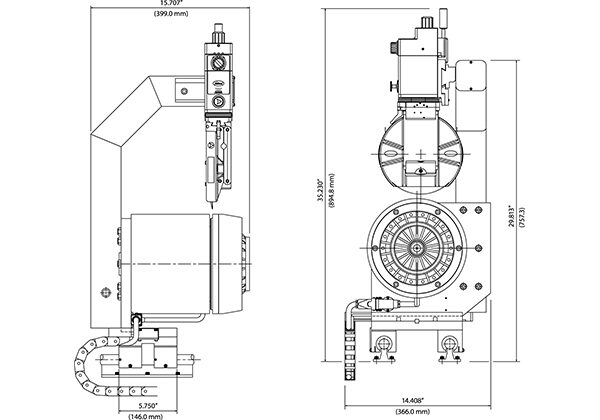 Tidland edge trim dimensions