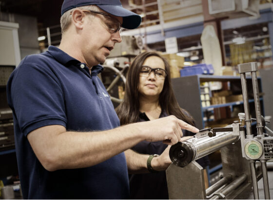 Man inspecting rotary die