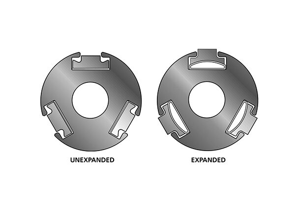 Tidland External Element Air Shafts